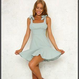 Sage colored dress